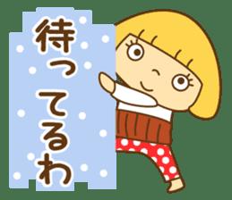 Cute Hana no.5.Winter. Also kimono. sticker #8864436