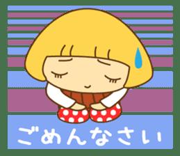 Cute Hana no.5.Winter. Also kimono. sticker #8864441