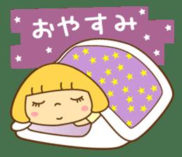 Cute Hana no.5.Winter. Also kimono. sticker #8864443
