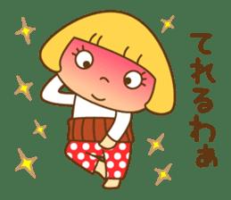 Cute Hana no.5.Winter. Also kimono. sticker #8864447