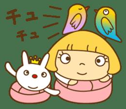 Cute Hana no.5.Winter. Also kimono. sticker #8864448