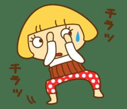 Cute Hana no.5.Winter. Also kimono. sticker #8864449