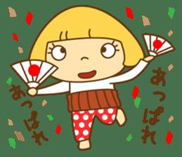 Cute Hana no.5.Winter. Also kimono. sticker #8864453