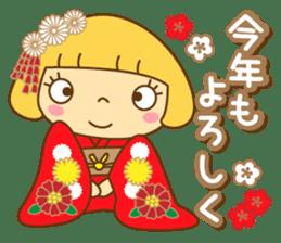 Cute Hana no.5.Winter. Also kimono. sticker #8864454