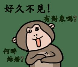 2016 Happy monkey year sticker #8866141