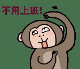 2016 Happy monkey year sticker #8866159