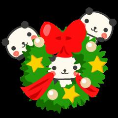 New Year Congratulations panda