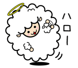 God of the sheep sticker #8874177