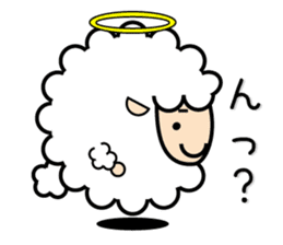 God of the sheep sticker #8874193