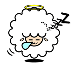 God of the sheep sticker #8874197