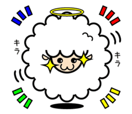 God of the sheep sticker #8874215