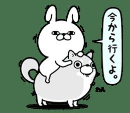 Rabbit100% daily use sticker #8876761