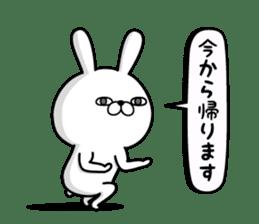 Rabbit100% daily use sticker #8876764
