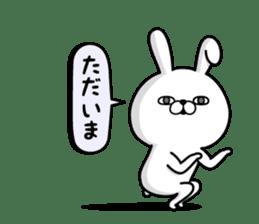 Rabbit100% daily use sticker #8876766