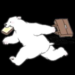 White bears like a man