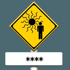 道路標識(注意)カスタム