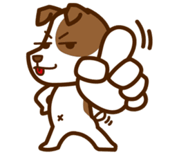 LOVE Jack Russell Terrier sticker #8892958