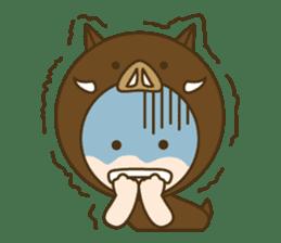 "Happy New Year! Cute animal ""zodiac"" sticker #8896227"