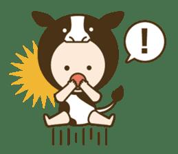 "Happy New Year! Cute animal ""zodiac"" sticker #8896229"