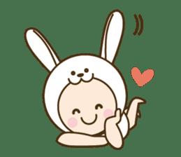 "Happy New Year! Cute animal ""zodiac"" sticker #8896231"