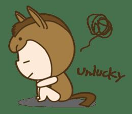 "Happy New Year! Cute animal ""zodiac"" sticker #8896234"