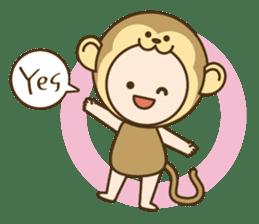 "Happy New Year! Cute animal ""zodiac"" sticker #8896236"