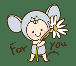"Happy New Year! Cute animal ""zodiac"" sticker #8896240"