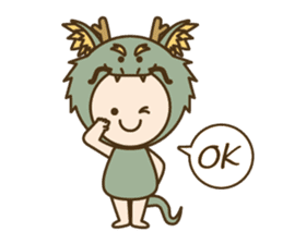 "Happy New Year! Cute animal ""zodiac"" sticker #8896244"