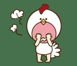 "Happy New Year! Cute animal ""zodiac"" sticker #8896249"