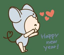 "Happy New Year! Cute animal ""zodiac"" sticker #8896252"
