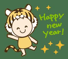 "Happy New Year! Cute animal ""zodiac"" sticker #8896254"