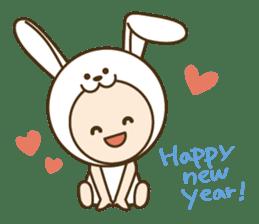 "Happy New Year! Cute animal ""zodiac"" sticker #8896255"