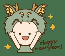 "Happy New Year! Cute animal ""zodiac"" sticker #8896256"