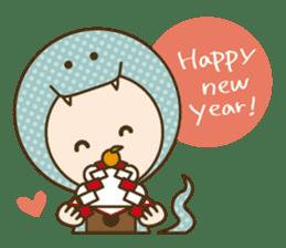 "Happy New Year! Cute animal ""zodiac"" sticker #8896257"