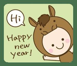 "Happy New Year! Cute animal ""zodiac"" sticker #8896258"