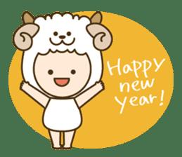 "Happy New Year! Cute animal ""zodiac"" sticker #8896259"