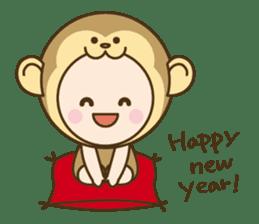 "Happy New Year! Cute animal ""zodiac"" sticker #8896260"