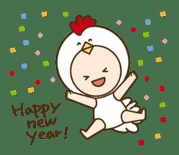 "Happy New Year! Cute animal ""zodiac"" sticker #8896261"