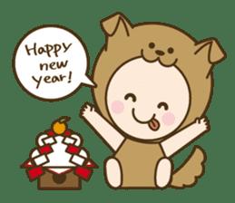 "Happy New Year! Cute animal ""zodiac"" sticker #8896262"