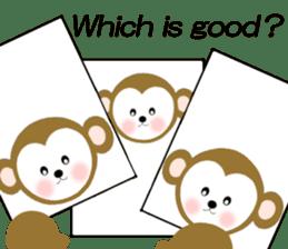 2016 Happy New Year Monkeys [English] sticker #8902498