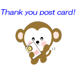 2016 Happy New Year Monkeys [English] sticker #8902499