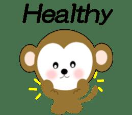 2016 Happy New Year Monkeys [English] sticker #8902505