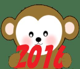 2016 Happy New Year Monkeys [English] sticker #8902506
