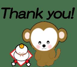 2016 Happy New Year Monkeys [English] sticker #8902507