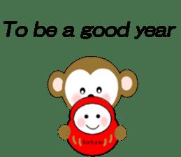 2016 Happy New Year Monkeys [English] sticker #8902508
