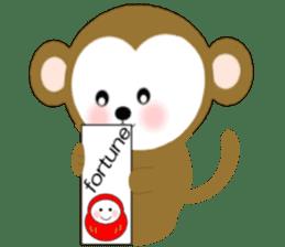 2016 Happy New Year Monkeys [English] sticker #8902509