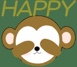 2016 Happy New Year Monkeys [English] sticker #8902512