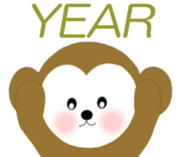2016 Happy New Year Monkeys [English] sticker #8902514