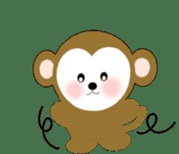 2016 Happy New Year Monkeys [English] sticker #8902515
