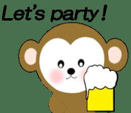 2016 Happy New Year Monkeys [English] sticker #8902519